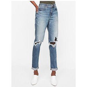 Express high waisted original girlfriend jeans 4